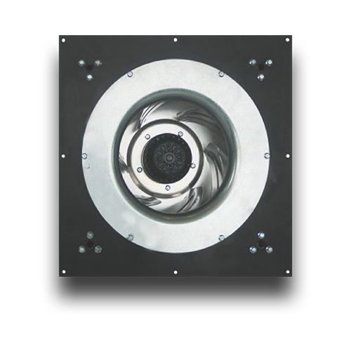 BMF335-GH AC Backward curved centrifugal fan with support bracket and panel